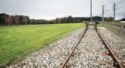 Endstation: Die geplante Deponie Zelgli in Altishausen soll an die Bahn angeschlossen werden. (Bild: Reto Martin)