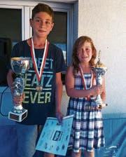 Stolze Sieger: Die «Schnellsten Ranser» heissen Bruce Grütter und Amélie Fonjallaz. (Bild: PD)