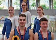 SM-Teilnehmer: Jana Graber, Katja Lummer, Leila Graber (hinten von links), Dominik Nadig sowie Jonas Vetsch (vorne von links). (Bilder: PD)