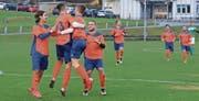Der FC Trübbach darf jubeln: Zum Abschluss der Vorrunde bezwang man Ruggell II mit 3:0 und überwintert somit über dem Strich. (Bild: Robert Kucera)