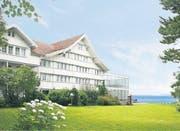 Aus der ehemaligen Pension Nord in Heiden wird das Hotel Muhr. (Bild: Fotomontage: pd)