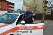 Mathias Kuhn wird am 31. Januar zum letzten Mal dienstlich ein Polizeiauto nutzen. (Bild: Beat Lanzendorfer)