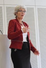 Die leitende Klinikärztin Dr. med. Regula Meinherz sprach zum Thema Lebensfreude. (Bild: Angela Adank)