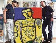 Zusammenarbeit: Pop-Art-Künstler Marco De Lucca (links) und Tattoo-Künstler Dischy. (Bild: pd)