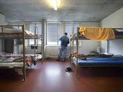 Unterkunft für Asylberwerber in Empfangszentrum. (Bild: Keystone)