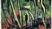 Landschaft als Schattenspiel: Carl Walter Liner «Wald, Korsika» von 1949. (Bild: Kunstmuseum Appenzell)