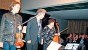 Das Natalia-Gutman-Trio gestaltete in der Kunsthalle Ziegelhütte ein hochstehendes Konzert. (Bild: fo)