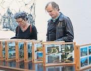 Leporello mit Postkarten von Raoul Müller im neuen Shed. (Bild: Donato Caspari)