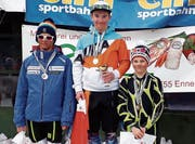 Jeremy Lenherr (Mitte) siegte in der Kategorie Knaben U14. (Bild: PD)
