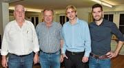 Die abtretenden August Wehrli und Hans Rohrer, der neue Präsident Joel Kaufmann und der neue Vizepräsident Dominic Büchler (von links). (Bild: Thomas Schwizer)