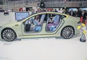 Dieses Auto von Rinspeed ist auf autonomes Fahren ausgelegt und jetzt in Genf zu sehen. (Bild: Bruno Knellwolf)