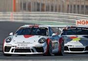 Philipp Frommenwiler (vorne) hat seinen Porsche im Griff. (Bild: PD)