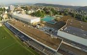 2013 eröffnet, sind immer noch nicht alle Fragen rund um den Sportpark Bergholz geklärt. (Archivbild: Ralph Ribi)