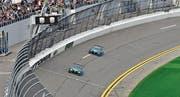 Der Thurgauer Philipp Frommenwiler zieht auf dem Oval von Daytona seine Runden. (Bild: Lexus/3GT Racing)