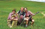 Buggl Volte, Heinz Berger und Erich Pirker vom Skilehrer-Trio. (Bild: PD)