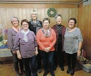 Der Vorstand (von links): Bernadette Gisler, Gabi Schmuki, Maya Gubser, Yvonne Gähwiler, Rösli Näf und Yvonne Friedli. (Bild: pd)