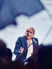 Marine Le Pen an einem Treffen europafeindlicher Parteien in Prag. (Bild: Vit Simanek/KEY (16. Dezember 2017))