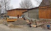 Bauarbeiten für den neuen Zoo-Spielplatz. (Bild: PD)