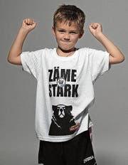 Auch Mateo Muslin, Sohn von FC-Wil-Captain Marko Muslin, ist Teil der neuen Kampagne. (Bild: PD)