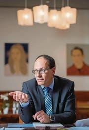 FDP-Regierungsratskandidat Marc Mächler: «Ich bin ein waschechter St. Galler.» (Bild: Urs Bucher)
