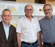 Die Murghof-Führung: Vizepräsident Rudolf Fuchs, Präsident Christian Hermann und Geschäftsleiter Rupert Summerauer. (Bild: Hugo Berger)