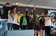 Siegerteam U16 in Uznach: AFG Werdenberg. Bild: PD