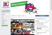 Wird künftig besser überprüft: Die Facebookseite der No-Billag Initianten. (Bild: Screenshot Facebook)