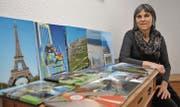 Marlis Moreschis Fotobücher weisen auf ihre Hobbies hin: Die Familie, Ferienreisen und Mountainbike-Touren in vielen Regionen im In- und Ausland. (Bild: Heini Schwendener)