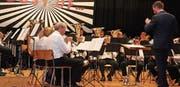 Die MG Brass Band Hauptwil spielte unter der Leitung von Daniel Gubler. (Bild: Christof Lampart)