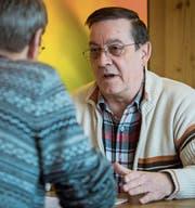 Der Präsident der Unia-Sektion Säntis-Bodensee, Peter Lenggenhager, im Gespräch. (Bild: Reto Martin)