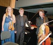 Das Swiss Piano Trio konzertierte bisher in über 40 Ländern in aller Welt. (Bild: fo)