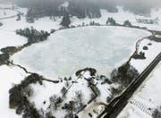 Winterliche Idylle auf der Grenze zum Kanton Zürich: Der Bichelsee ist zugefroren. (Bild: Olaf Kühne)
