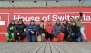 Marlen Fuchs, Michael Willers, Marc Zürcher, Isabella Deiss, Marc, Beni und Sven Bischofberger, Simone Dürr und Raphael Thür. (Bild: PD)