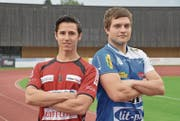 Zwei ehemalige Teamkollegen treffen nun aufeinander: Samuel Pfiffner (links) und Hans Sturzenegger. (Bild: PD)