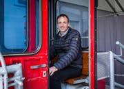 Markus Walser (45) ist der Retter der Seilbahn Palfries (Bild: SRF/Pascal Mora)