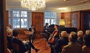 Das Segantini-Trio während des Konzertes im Baronenhaus. (Bild: Carola Nadler)