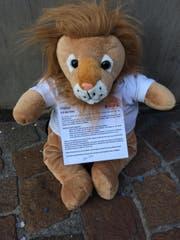 """Leuli """"Savi"""" wartet auf dem Pflaster der Zürcherstrasse auf neugierige Passanten. (Bild: Stefan Hilzinger)"""