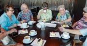 Bei Kaffee und Kuchen genoss die Theatergruppe Silberfüchse den Blick auf Zürich. (Bild: PD)