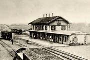 So präsentierte sich der Wiler Bahnhof um 1900. (Bild: PD)