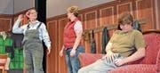 Die Darsteller im Schwank «Lieber ledig und frei» sorgten für viele Lacher im Publikum.