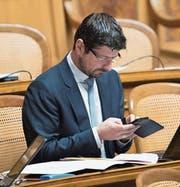 Nationalrat Yannick Buttet (CVP, Wallis) im Parlament. (Bild:)