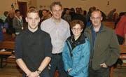 Der neue Vereinsvorstand, von links: Marcel Bosshart, Christoph Scheiwiller, Sonja Amrhein und Präsident Roland Graf. (Bilder: Beat Lanzendorfer)