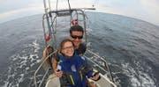 Maja Sanchez und Dominique Marxer haben bereits getestet, ob sie an Bord gut miteinander klarkommen. Hier in der Ostsee.