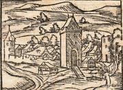 Die Stadt Waldshut in Sebastian Münzers «Cosmographia», um 1580. (Bild: PD)
