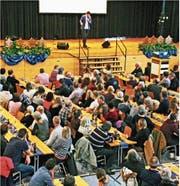 Der Dreikönigsanlass fand in der Mehrzweckhalle statt. (Bild: Fritz Bichsel)