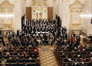 Der Oratorienchor Kreuzlingen und die Kammerphilharmonie Bodensee-Oberschwaben unter Leitung von Annedore Neufeld in der Stefanskirche. (Bild: pd/Foto Gaccioli, Kreuzlingen)