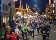 Am 2. Dezember wird das Zentrum von Gossau wieder zum Mekka für Läufer. (Bild: Michel Canonica (3. Dezember 2016))
