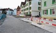 Neuer Erschliessungsweg ins WerkZwei (Bild: Max Eichenberger)