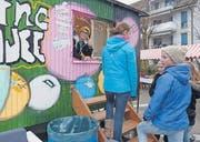 Das «Rolling House» am vergangenen Adventsmarkt in Müllheim. (Bild: pd)