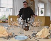Erhielt dieses Jahr ebenfalls 13 Punkte vom Gastroführer Gault Millau: Giovanni Dutto, Restaurant Traube, Azmoos. (Bild: Alexandra Gächter)